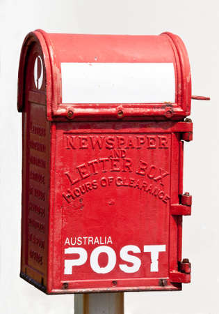 Antique Australian newspaper and letterbox Stock Photo