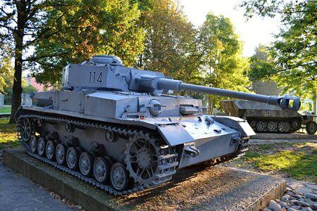 Panzer  Slovakia Banska Bystrica 28 September 2014 Memorial Military equipment of World War 2