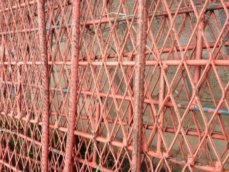 steel: Red steel mesch