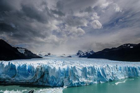 calafate: Wide angle shot of the perito moreno glacier in Argentina.