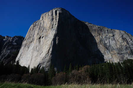 Shot of El Capitan, one of the most famous climbing areas in the World. Yosemite National Park, California, USA