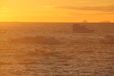 tabular: Giant tabular icebergs floating in the Weddell Sea, in Antarctica.