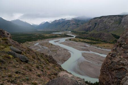 los glaciares: Impression of the Rio De Las Vueltas, in Patagonia, Argentina