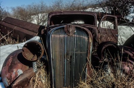 Abandoned Vehicles in the countryside in Ponoka, Alberta, Canada