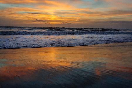 An Early Morning sunrise over Cocoa Beach, Florida, USA. Stock Photo