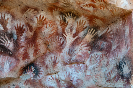Rock art near the Cuevo de las manos.
