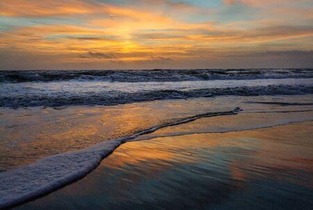 herodias: An Early Morning sunrise over Cocoa Beach, Florida, USA. Stock Photo
