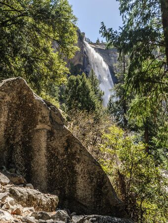 Nevada Fall in early spring: Yosemite National Park, California, USA
