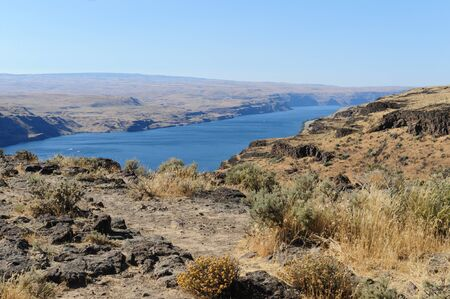 Overlook of the Columbia river in the State of Washtington Stock Photo