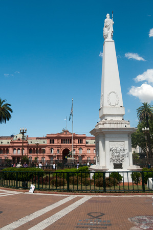 The piramide de mayo. This statue commemorates the may revolution of 1810.