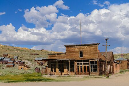 The old saloon in the Ghost Town of Bodie, California. Stock Photo