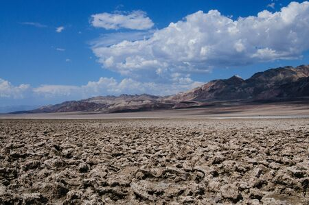 Landscape shot of the Devils Golf Course area in Death Valley National Park Stock Photo