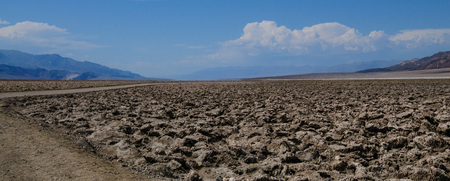 Landscape shot of the Devils Golf Course area in Death Valley National Park Imagens