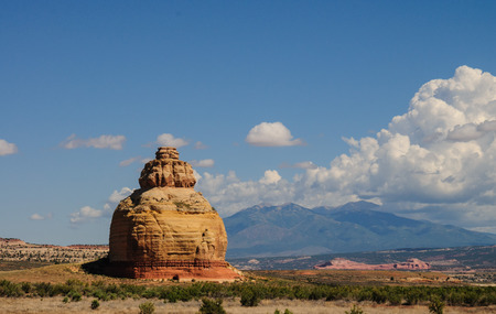 A big rock formation along US highway 191 in Arizona, near the Needles exit to Canyonlands national Park,