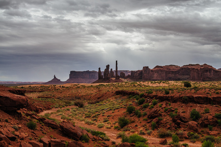 Monument Valley in mid August, on a relatively rainy and overcast day.