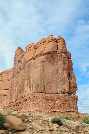 Delicate rock formations in Arches National Park, USA Stock Photo
