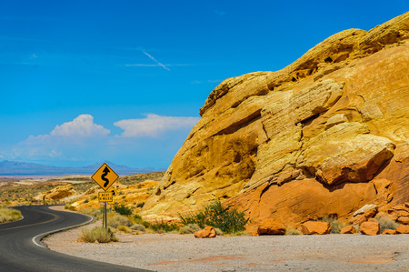 The Colorful Rock formations of the Valley of Fire State Park in Nevada.