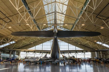 McMinville OR, July 19, 2017. The Spruce Goose on display in the Evergreen aviation Museum in McMinville, Oregon. The Spruce Goose is the Largest Aircraft ever build, developed in WWII. 報道画像