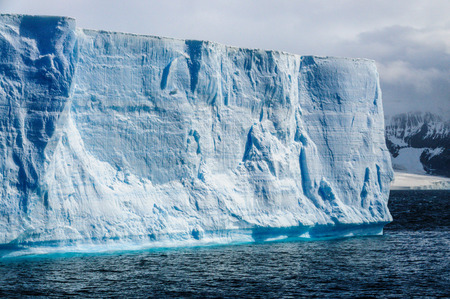 A giant tabular iceberg floating off the coast of Brown Bluff, the northern most tip of the Antarctic Peninsula.