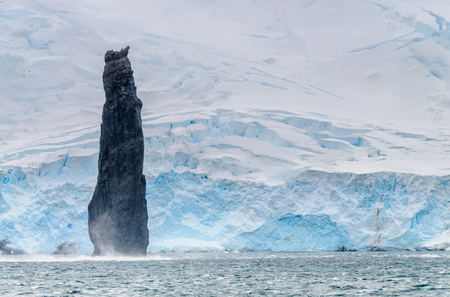 The Astrolabe Needle is a 50 meter tall monolith off the coast of Brabant island, near the Antarctic Peninsula
