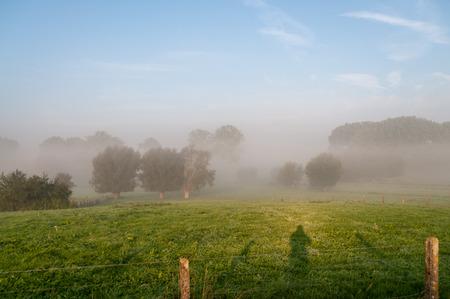 Une impression de la campagne de Flandre orientale, très tôt le matin.