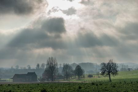 Flemish Landscape in Winter Stockfoto