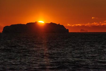 Coucher de soleil sur la mer de Weddell