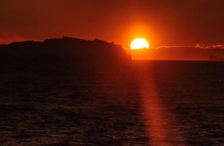 Coucher de soleil sur la mer de Weddell Banque d'images