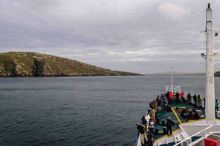 Passing West-point island