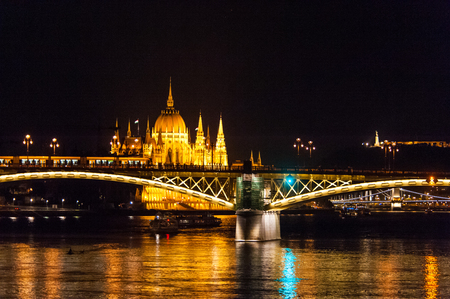 Budapest 2013: the parliament building as seen from the Donau river.