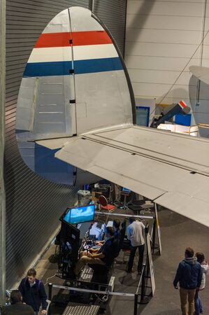 Lelystad, November 2, 2013. Visitors attending FSWeekend, the worlds largest annual Flight Simulation exhibit. Editöryel