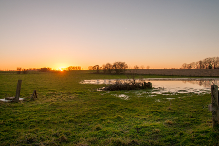 A sunset in the east flemish country side.
