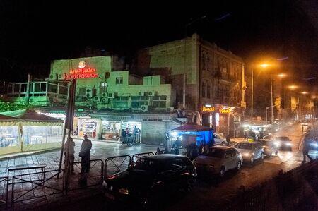 Jerusalem, Israel. June 5 2013. Impression of a lively neighborhood in Old Jerusalem at night. Редакционное