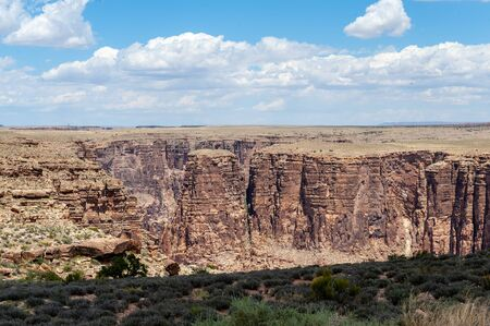 Landscape shot near the little colorado river gorge, along highway 64, desert view drive.