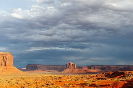 An impressive Mesa near monument valley, Arizona, around sunset.