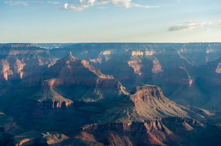 The rising sun over the grand canyon near Yavapai Point, on the southern Rim.