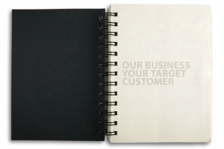 For business notebook on a white background