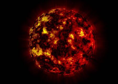 Burning Planet Фото со стока