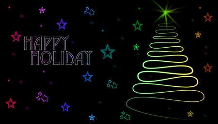 Mary Christmas holiday greeting cards. Stock Photo - 19741871