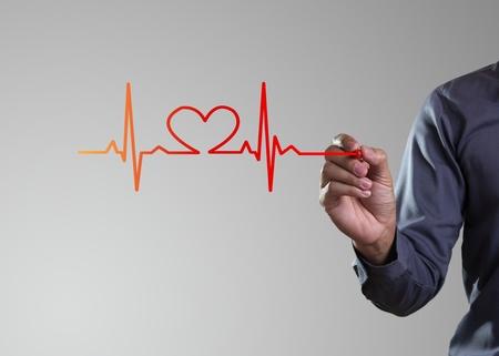 elektrokardiogramm: Medizin-, Hand-Zeichnung