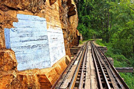 Rail travel in Kanchanaburi province is called Stock Photo - 19742216