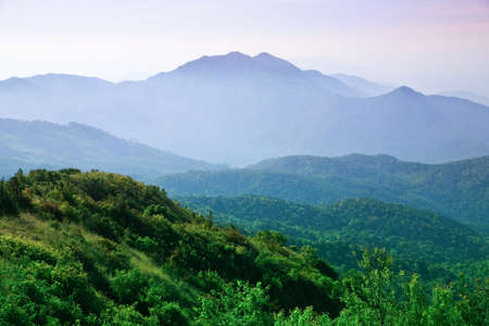 The landscape of the mountains  photo