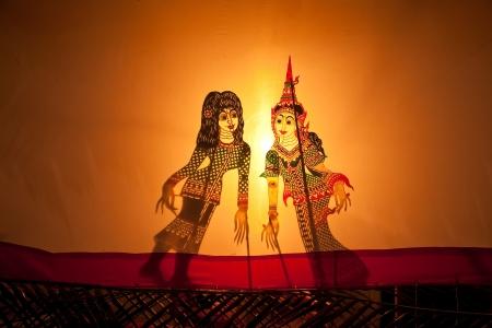 Gioco di ombre a Bangkok in Thailandia Archivio Fotografico