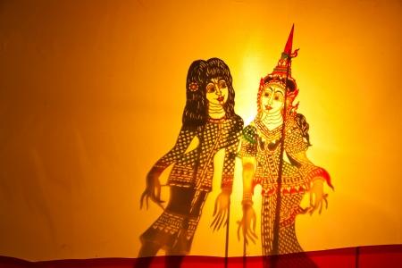 kulit: Shadow play in Bangkok Thailand
