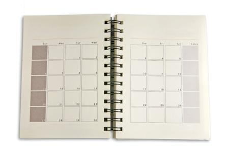 journal intime: Les horaires d'ordinateur portable pour affaires Banque d'images