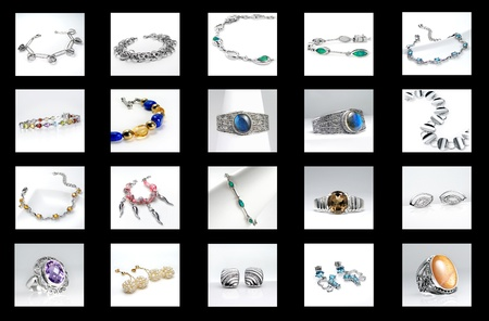 Jewelry for women on a Black background  Stock Photo - 19838182