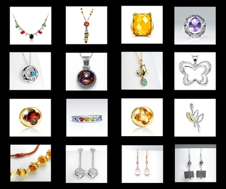 Jewelry for women on a Black background Stock Photo - 19838175