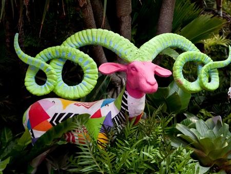 emporium: BANGKOK - OCTOBER 11-21 : Flora & Fauna Exotica 2012 The Mystique Whisper Maya jungle sounds amazing exhibition of rare statues at The Emporium shopping center during 11-21 October 2012.