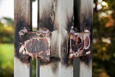 Weld steel. Stock Photo