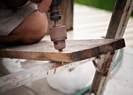 Drill wood